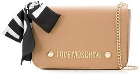 Love Moschino scarf bow shoulder bag