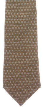 Hermes Star Print Silk Tie