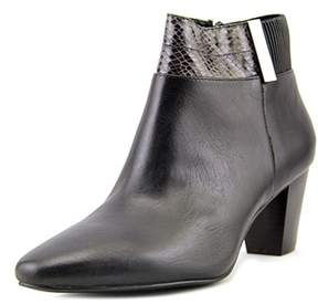 Alfani Womens Palessa Leather Almond Toe Ankle Fashion Boots.