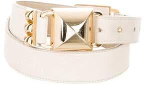Betsey Johnson Stud-Embellished Waist Belt