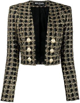 Balmain cropped tweed jacket