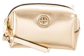 Tory Burch Metallic Zip Key Pouch - GOLD - STYLE