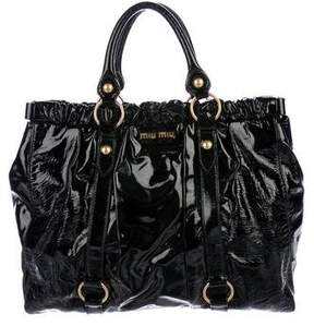 Miu Miu Patent Leather Tote