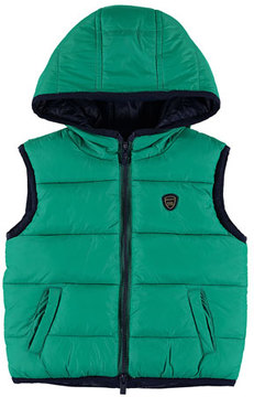 Mayoral Reversible Quilted Vest, Size 6-36 Months