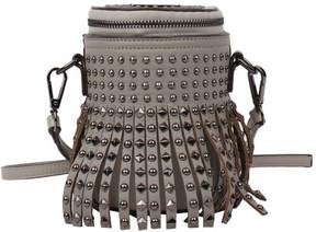 Women's Nicole Lee Ysane Fringe Studded Barrel Cross Body Bag