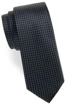 Black & Brown Black Brown Silk Small-Link Tie