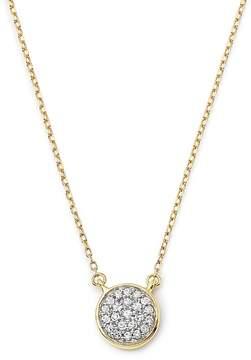 Adina 14K Yellow Gold Pavé Diamond Disc Necklace, 15