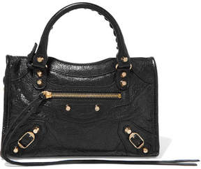 Balenciaga - Classic City Mini Textured-leather Tote - Black