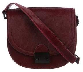Loeffler Randall Leather-Trimmed Ponyhair Saddle Crossbody Bag