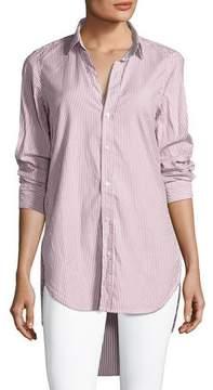 Frank And Eileen Grayson Long-Sleeve Button-Front Striped Poplin Shirt
