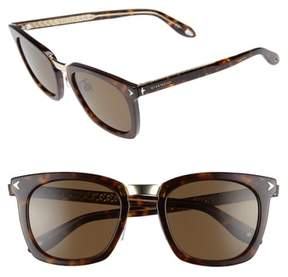 Men's Givenchy 53Mm Sunglasses - Brown Havana