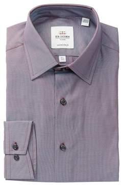 Ben Sherman Royal Oxford Print Slim Fit Dress Shirt