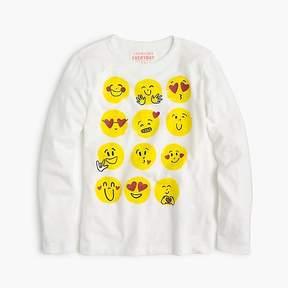 J.Crew Girl's multi-emoji T-shirt