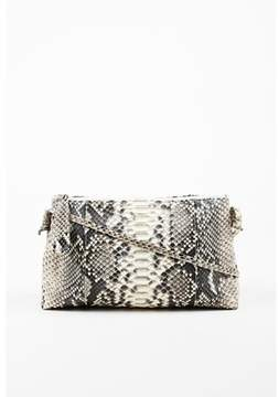 Carlos Falchi Pre-owned Beige Gray & Black Snakeskin Crossbody Bag.