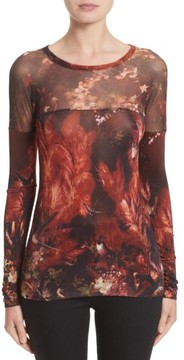 Fuzzi Women's Hummingbird Print Jersey Top