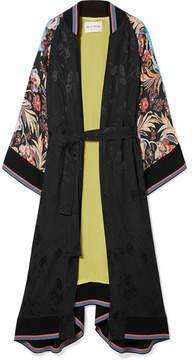 Etro Printed Satin-jacquard Coat - Black