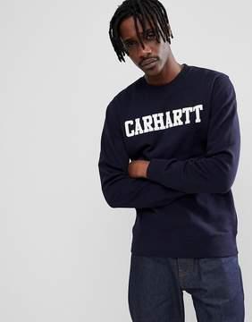 Carhartt WIP College Sweatshirt In Navy