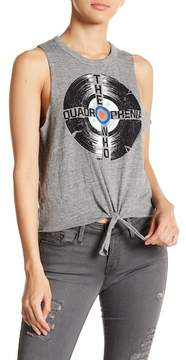 Chaser The Who Tie Front Tank Top