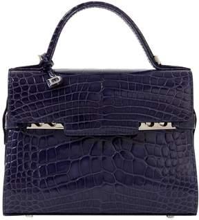 Delvaux Tempete Blue Alligator Handbag