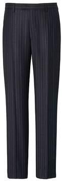 Banana Republic Tapered Heritage Navy Pinstripe Italian Wool Suit Trouser