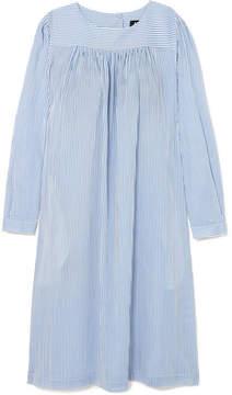 A.P.C. Cassie Striped Cotton-poplin Dress - Blue