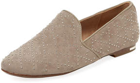 Yosi Samra Women's Preslie Studded Leather Smoking Slipper