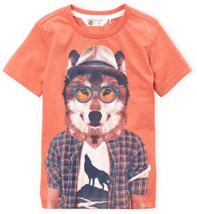 Petit Lem Boys 4-7) Wolf Tee