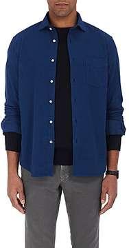 Hartford Men's Penn Cotton Moleskin Button-Front Shirt