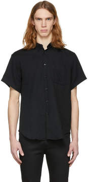 Naked & Famous Denim Denim Black Short Sleeve Gauze Shirt