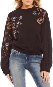 Chelsea & Violet Embellished Sleeve Sweatshirt