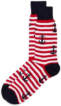 Bloomingdale's The Men's Store at Anchor Stripe Socks - 100% Exclusive