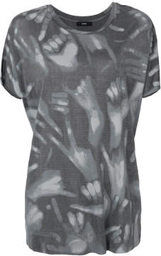 Diesel hands print T-shirt