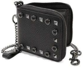 Valentino Garavani Zip-Around Leather Billfold Wallet