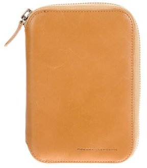 Robert Clergerie Leather Passport Wallet