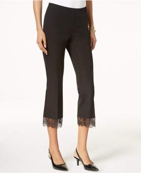 Alfani Cropped Lace-Hem Pants, Created for Macy's