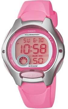 Casio Women's Digital Sport Watch, Pink Resin Strap