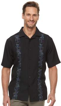 Haggar Men's Classic-Fit Textured Microfiber Button-Down Shirt