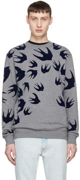 McQ Grey Swallow Swarm Clean Sweatshirt