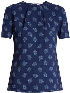 Altuzarra Devan floral-print stretch-faille top