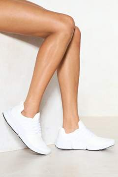 Nasty Gal On the Go Vegan Leather Sneaker