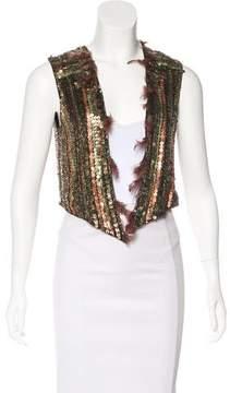 Matthew Williamson Embellished Silk Vest
