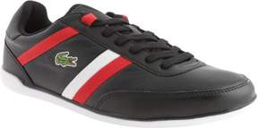 Lacoste Men's Giron Pus Black/Red Leather Size 13 M