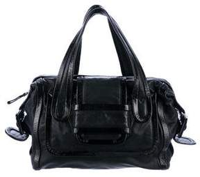 Pierre Hardy Patent & Lamb Leather Handle Bag
