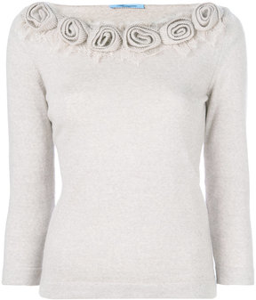 Blumarine floral knitted top