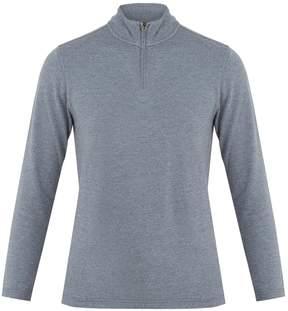 Faherty Half-zip cotton-blend top