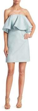Halston Tiered Flounce Dress