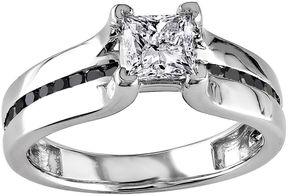 Black Diamond MODERN BRIDE Midnight 1 CT. T.W. White & Color-Enhanced 14K White Gold Engagement Ring