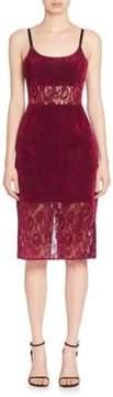 ABS by Allen Schwartz Sheer Panel Lace Sheath Dress
