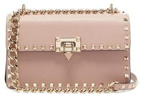 Valentino Rockstud Small Leather Shoulder Bag - Womens - Nude