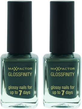 Max Factor Aqua Marine Glossfinity Nail Polish - Set of Two